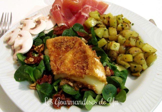 Salade gourmande de camembert rôti au miel LGY
