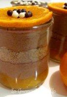 Verrines de mousse au chocolat au lait, cookies et clémentines