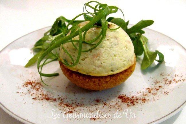 Sphères de cheesecake au saumon LGY