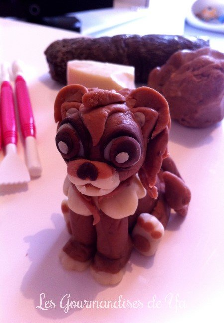 Pâte à chocolat - Figurine lion 03 LGY