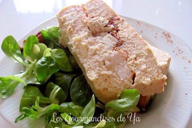Terrine aux trois poissons, crevette, tomates séchées et lait de coco LGY 01