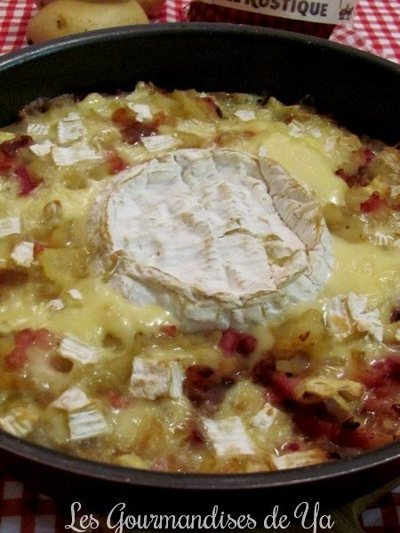 Gratin de pommes de terre, lardons et camembert LGY