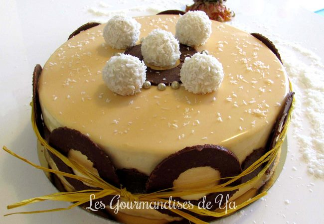 Entremets ananas, coco et mangue LGY
