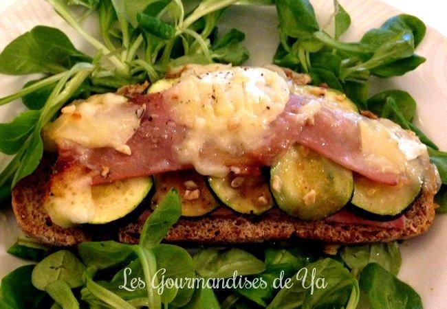 Bruschetta jambon, courgette et chèvre LGY