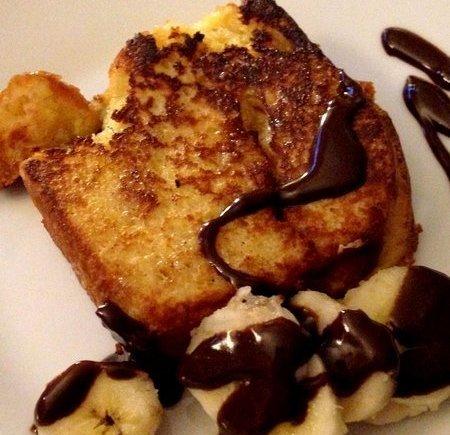 Brioche perdue banane et chocolat LGY