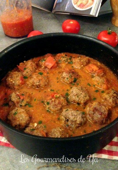 Boulettes de boeuf à la tomate