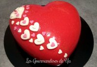 Coeur d'amour amande – framboise et pralines roses