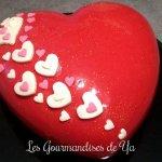 Coeur d'amour amande - framboise et pralines roses
