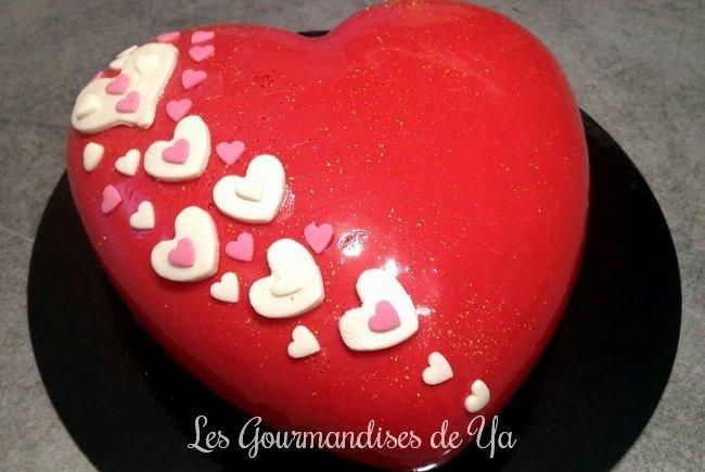 Coeur d'amour amande - framboise LGY 04