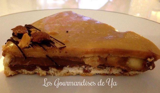 Tarte chocolat au lait, caramel beurre salé et banane LGY 02