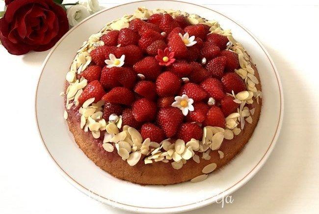 Gâteau renversé à la fraise LGY