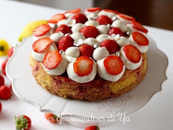 Moelleux fraise, vanille et citron LGY