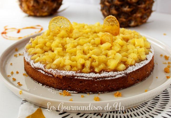Tarte amandine Ananas et Caramel LGY