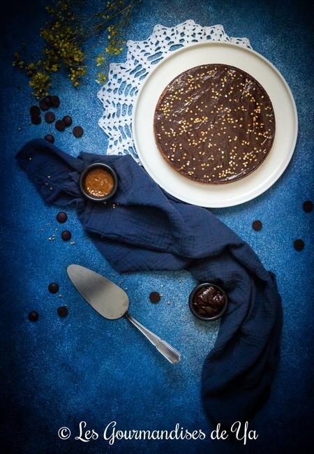 Tarte chocolat, sarrasin et caramel beurre salé de Nicolas PACIELLO LGY02