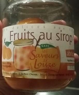 """Abricots au sirop """"Saveur de Louze"""""""