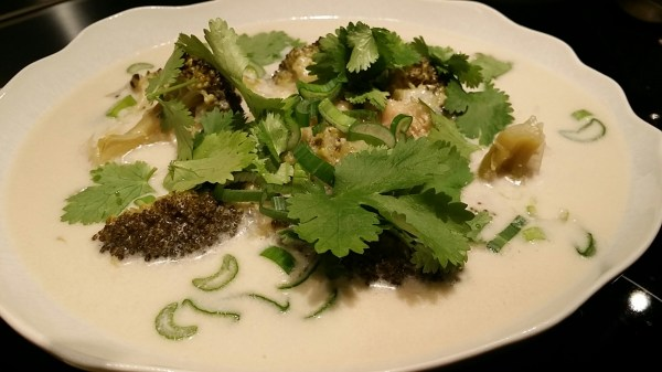 Crevettes en nage épicée (version brocoli)