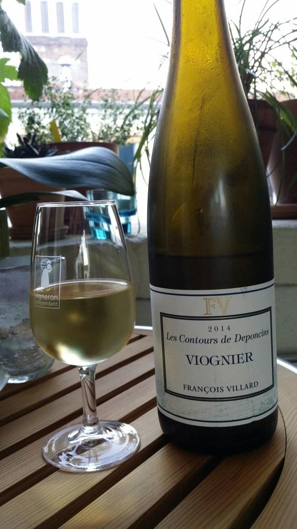 """Viognier """"Les contours de Deponcins"""" - François Villard (Saint-Michel-sur-Rhône)."""