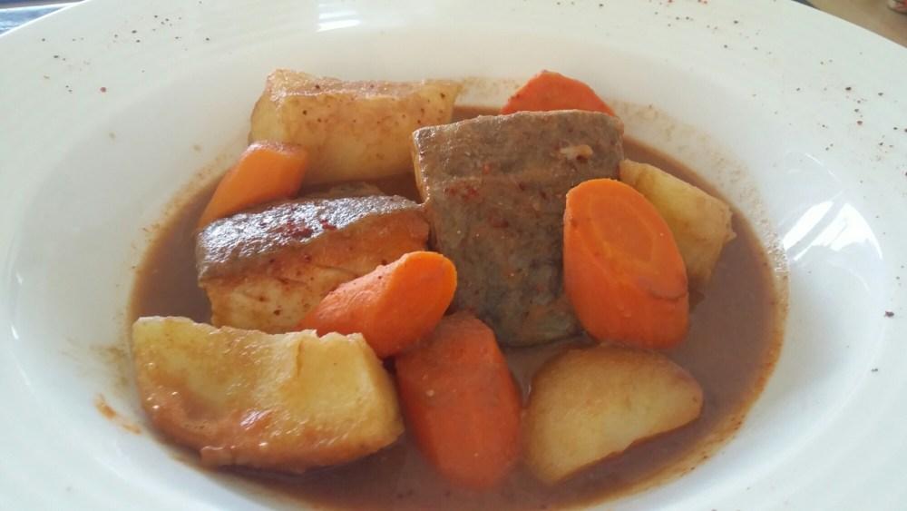 Bourride de poisson et légumes de Saint-Prim.