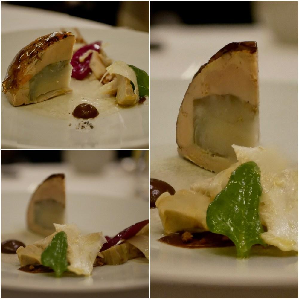 Foie gras et artichaut