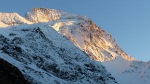 Coucher de soleil sur le glacier de la Muzelle