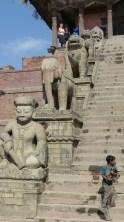 Les gardiens du temple de Nyatapola