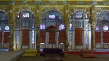 Le palais des fleurs est l'une des salles les plus richement décorées du fort
