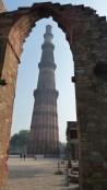 La tour du Qutub Minar, haute de 73m