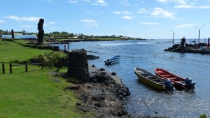 Le port d'Hanga Roa
