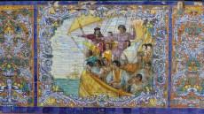 Mosaïque représentant l'invasion Espagnole