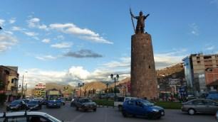 Le monument en l'honneur de Pachacutec