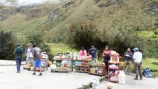Les stands de snacks aux différents stops