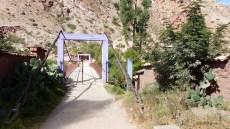 Pont violet: notre point de repère pour le début de la randonnée
