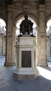 Statue hommage à Benito Juarez, le seul Président du pays à la réputation intacte
