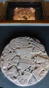 La stèle ronde de 8tonnes, à l'origine des fouilles sur le site de Tenochtitlan