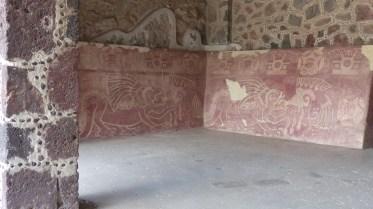 Certaines peintures sont très bien conservées, ici dans le palais des jaguars