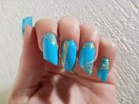 Nail art Turquoise & or | Les griffes de Luna