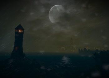 Вид на Новиград в шторм. Ведьмак 3: Дикая охота (The Witcher 3: Wild Hunt)