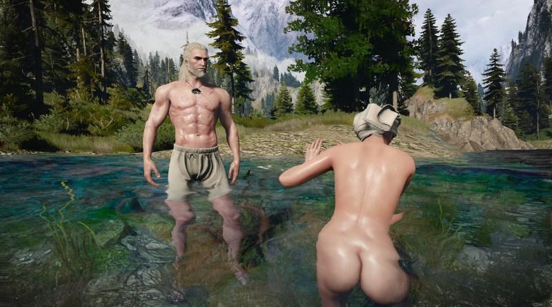 Геральт пугает людей. Ведьмак 3: Дикая охота (The Witcher 3: Wild Hunt)
