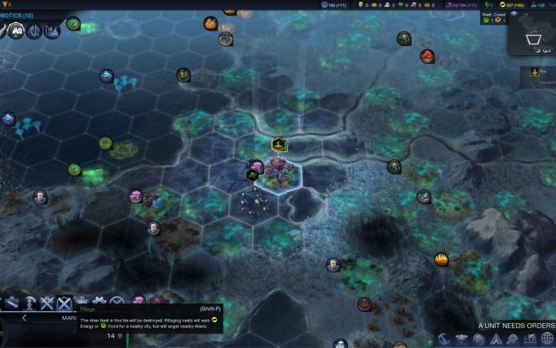 Civilization Beyond Earth — Разоряем гнездо и возможно получим инопланетный артефакт