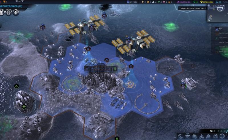 Civilization Beyond Earth — Два солнечных коллектора над одним городом