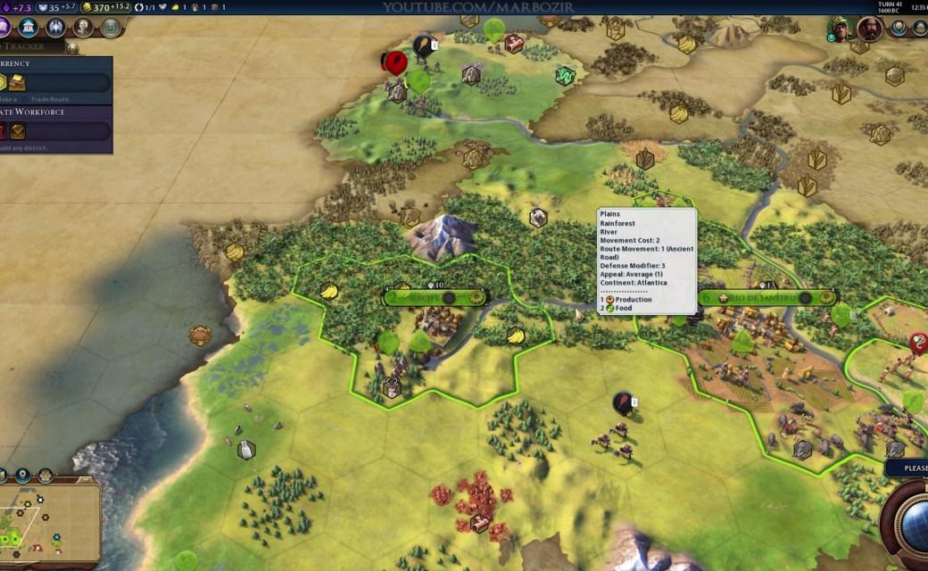 Civilization 6 — Доход от равнины с тропическим лесом