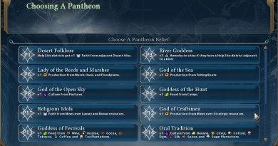 Civilization 6 - Религия - Выбор пантеона