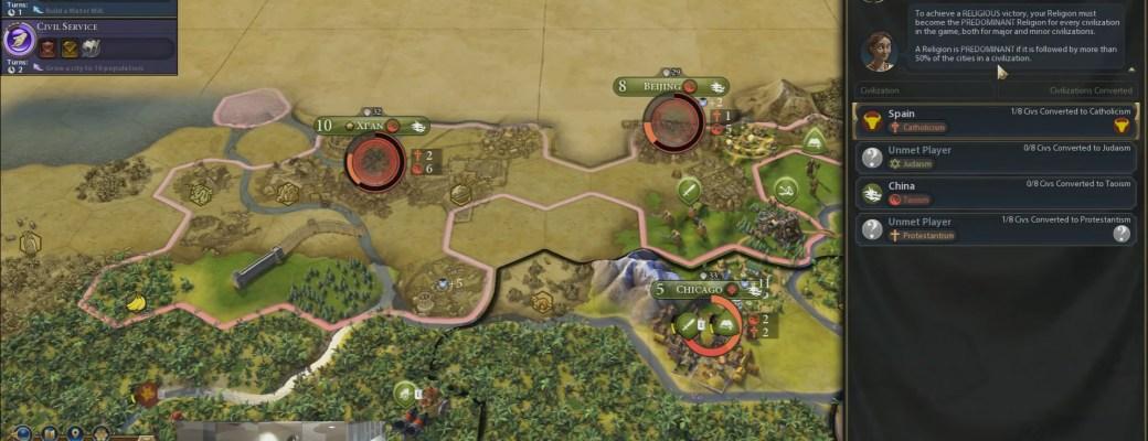 Civilization 6 — Экран релиозной победы