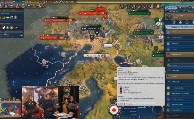Civilization VI — Gathering Storm — Конюшни увеличивают резерв стратегических ресурсов