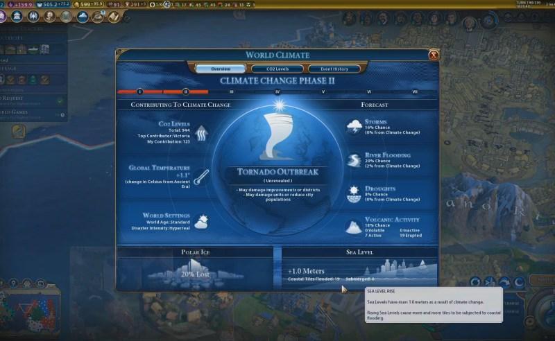 Civilization VI — Gathering Storm — Обзор климата 2 фазы