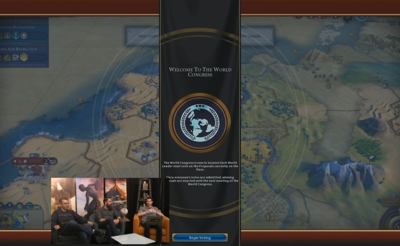 Civilization VI — Gathering Storm — Начало конгреса