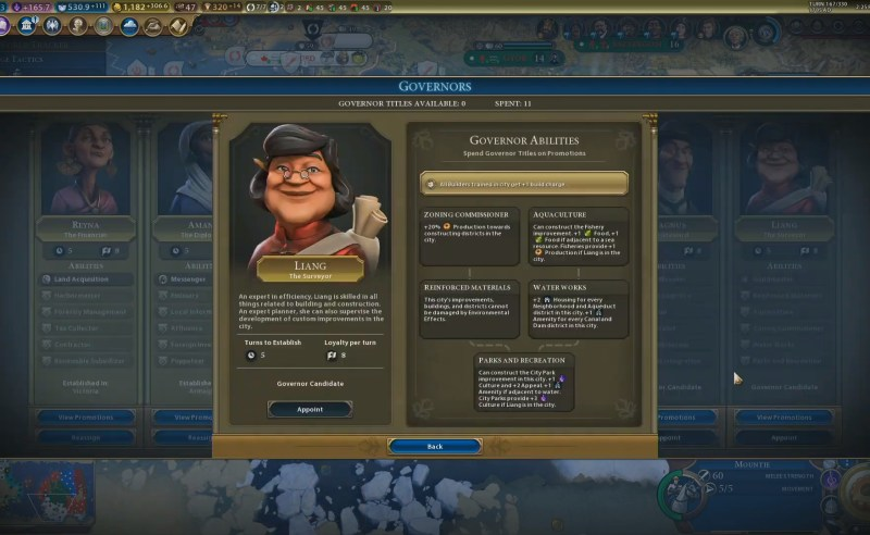 Civilization VI — Gathering Storm — Губернатор Лианг