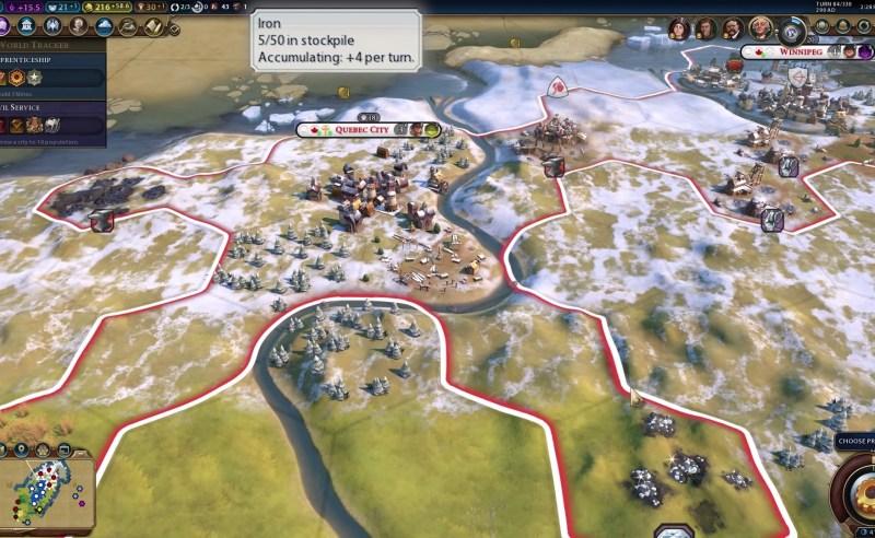 Civilization VI — Gathering Storm — Стратегический ресурс железо