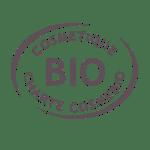 Cosmebio atteste que nos produits cosmétiques sont bio à 72,8% min, % d'ingrédients issus de l'agriculture biologique