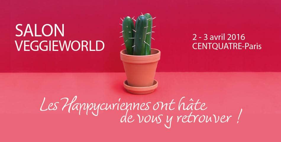 Les Happycuriennes, marque de cosmetique bio et vegan, participe au salon VeggieWorld a paris